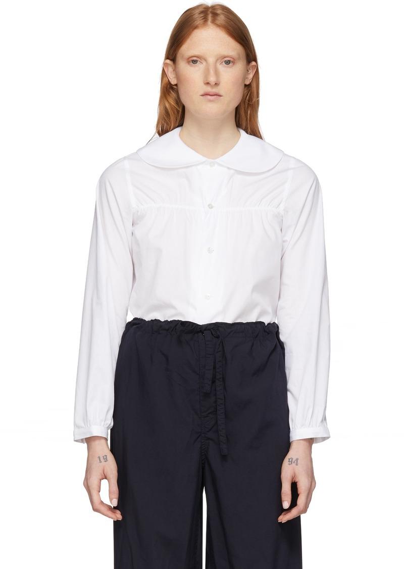Comme des Garçons White Peter Pan Collar Shirt