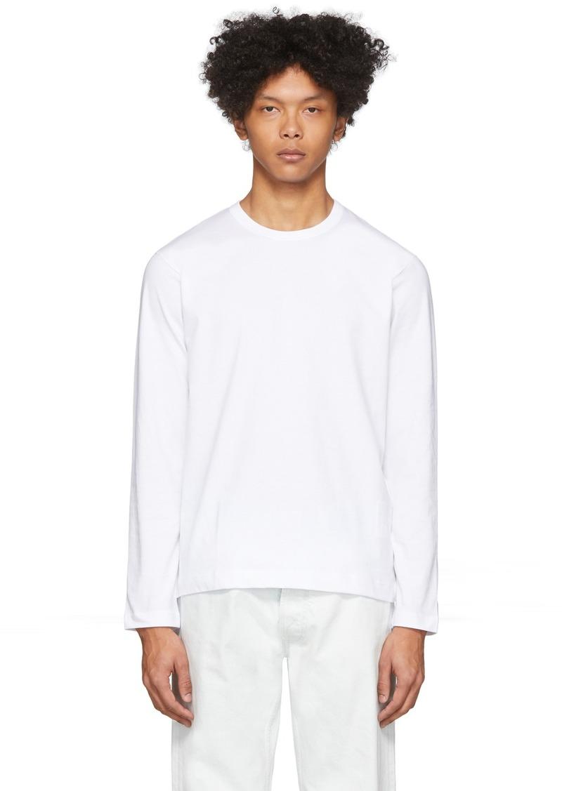 Comme des Garçons White Plain Long Sleeve T-Shirt