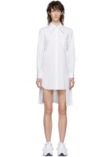 Comme des Garçons White Pleated Shirt Dress
