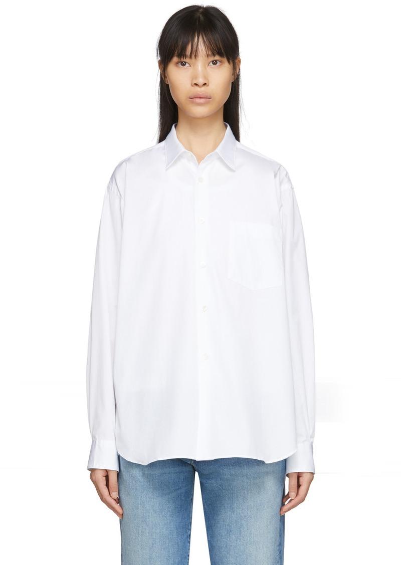 Comme des Garçons White Poplin Forever Shirt