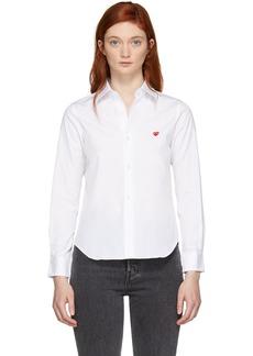 Comme des Garçons White Small Heart Shirt