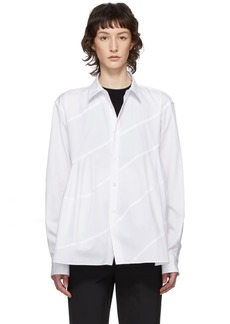 Comme des Garçons White Spiral Seam Shirt