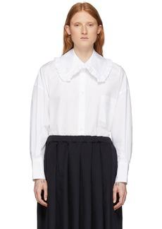 Comme des Garçons White Square Collar Ruffle Shirt