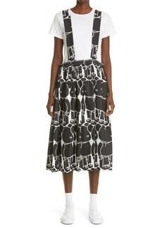 Comme des Garçons Women's Comme Des Garcons Bearbrick Print Twill Pinafore Dress