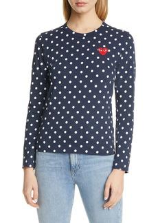 Comme des Garçons Women's Comme Des Garcons Play Polka Dot Cotton T-Shirt