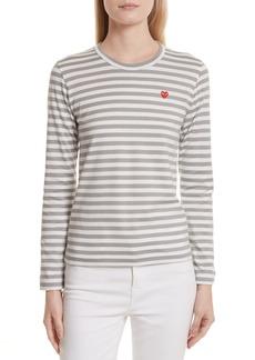 Comme des Garçons Women's Comme Des Garcons Play Stripe Long Sleeve T-Shirt
