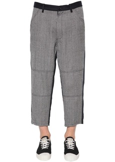 Comme des Garçons Wool Houndstooth & Carded Wool Pants