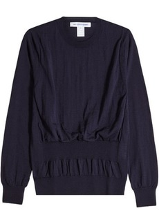 Comme des Garçons Wool Pullover with Gathered Waist