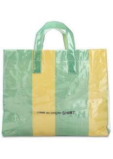 Comme des Garçons Xl Plastic Covered Woven Tote Bag