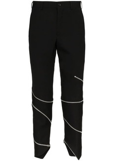 Comme des Garçons zip detail wool trousers
