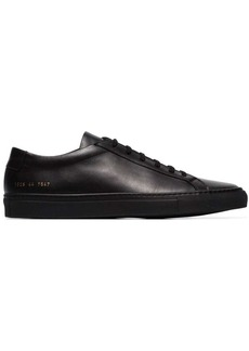 Common Projects black Achilles leather low-top sneakers
