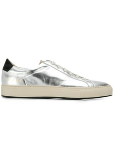 Common Projects low-top metallic trainers