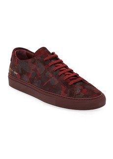 Common Projects Men's Achilles Camo Suede Low-Top Sneakers  Red