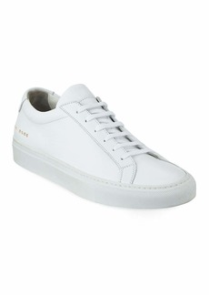 Common Projects Men's Achilles Leather Low-Top Sneakers  White