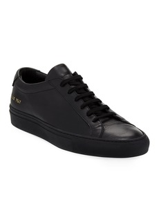 Common Projects Men's Achilles Low-Top Sneakers  Black