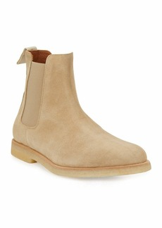 Common Projects Men's Calf Suede Chelsea Boot  Tan