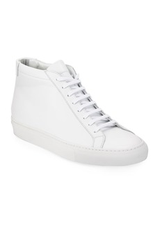 Common Projects Men's Original Achilles Men's Leather Mid-Top Sneakers  White