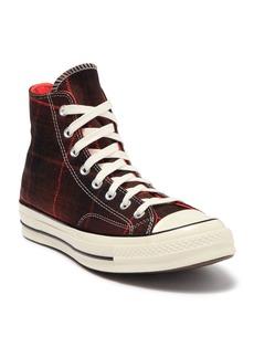 Converse 70 High-Top Plaid Sneaker (Unisex)