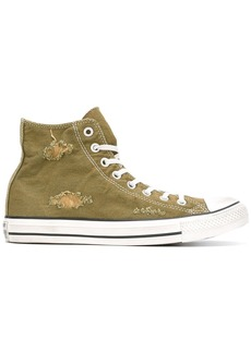 Converse All Star distressed hi-tops