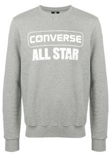 Converse All Star logo print sweatshirt