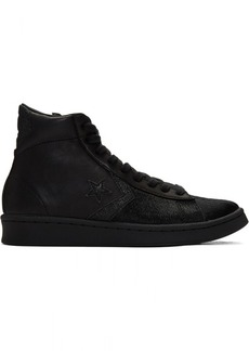 Converse Black Pro Leather Mid Sneakers