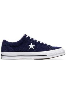 Converse blue and white one star OX suede leather sneakers