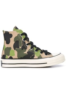 Converse camouflage pattern hi-top sneakers