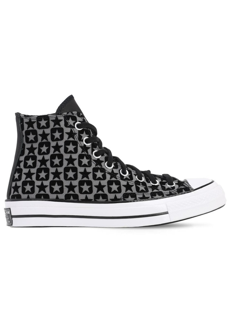 Converse Chuck 70 Flocked Canvas- Hi Sneakers