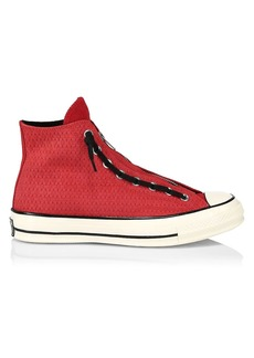 Converse Chuck 70 Zip Suede & Leather High-Top Sneakers