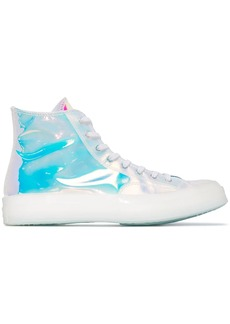 Converse Chuck holographic high-top sneakers