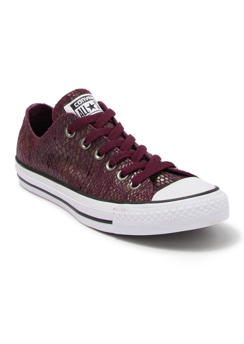 Converse Chuck Taylor All Star Oxford Snakeskin Print Leather Sneaker (Women)