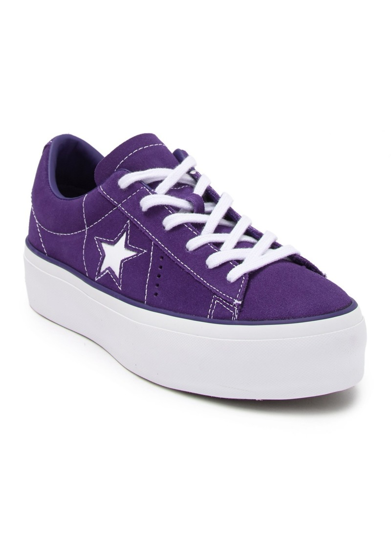 Converse Chuck Taylor One Star Suede Platform Oxford Sneaker (Women)