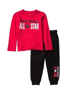 Converse All Star Long Sleeve Shirt & Jogger Set (Toddler Boys)