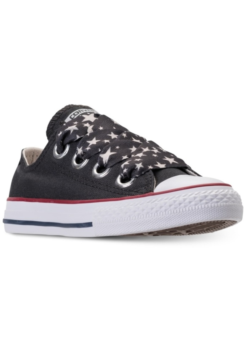 d47581a4418a Big Girls  Chuck Taylor All Star Big Eyelets Ox Casual Sneakers from Finish  Line. Converse