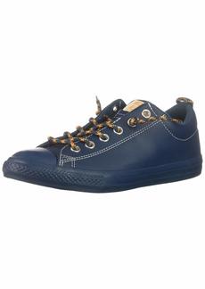 Converse Boys' Chuck Taylor All Star Leather Street Slip On Low Top Sneaker Blue FIR/Field Orange