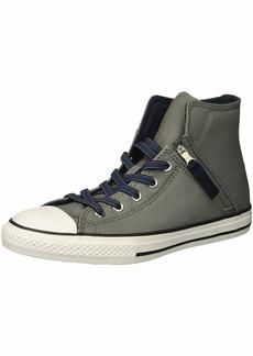 Converse Boys' Chuck Taylor All Star Pull Zip High Top Sneaker Mason/Obsidian/LT Racer Blue