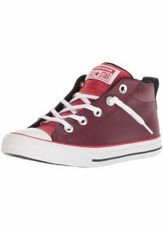 Converse Boys' CTAS Street MID Dark Burgundy/Enamel RED Sneaker