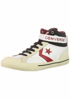 Converse Boys' Pro Blaze Strap Leather High Top Sneaker White/EGRET/Turtledove