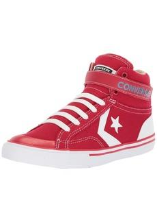 Converse Boys' Pro Blaze Summer Sport Canvas High Top Sneaker Gym red/Vintage Khaki/White
