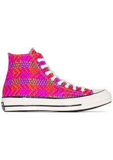 Converse Chuck 70 woven high-top sneakers