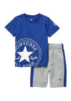 Converse Chuck Patch Shirt & Shorts (Toddler Boys)