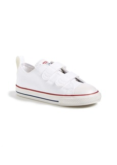Converse Chuck Taylor® All Star® 2V Double Strap Faux Leather Sneaker (Baby, Walker & Toddler)