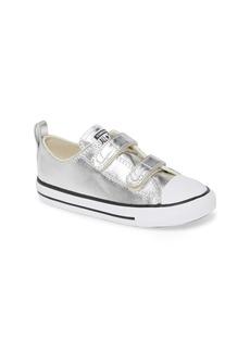 Converse Chuck Taylor® All Star® 2V Double Strap Metallic Sneaker (Baby, Walker & Toddler)