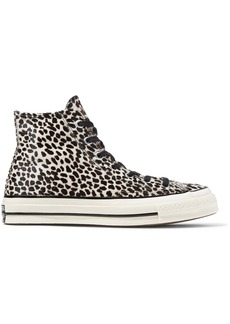 Converse Chuck Taylor All Star '70 leopard-print pony hair high-top sneakers