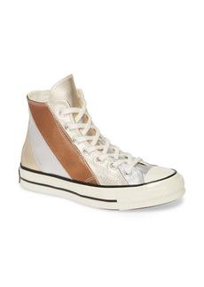 Converse Chuck Taylor® All Star® Chuck 70 Metallic Rainbow High Top Sneaker (Women)