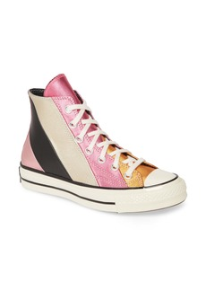 Converse Chuck Taylor® All Star® Chuck 70 Metallic Rainbow High Top Sneaker (Women)