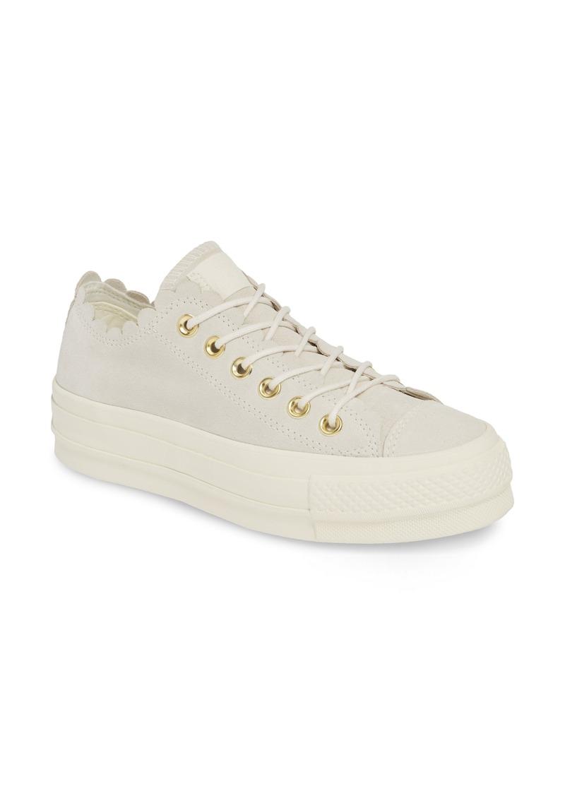 Chuck Taylor® All Star® Frilly Scallop Platform Sneaker (Women)