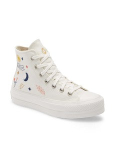 Converse Chuck Taylor® All Star® It's Okay to Wander Embroidered Platform Sneaker (Women)