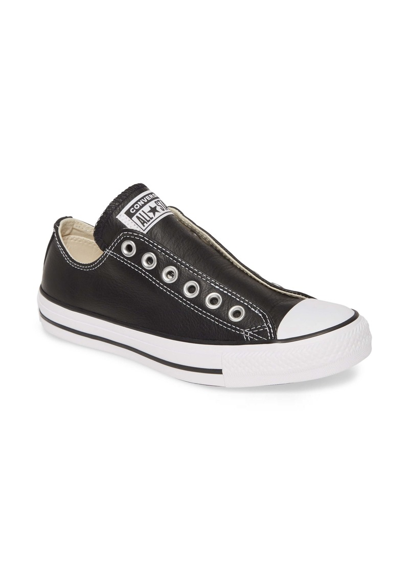 Converse Chuck Taylor® All Star® Laceless Leather Low Top Sneaker (Women)