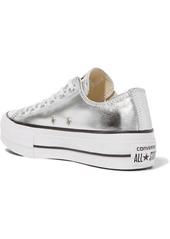 a2a06385a46b8d ... Converse Chuck Taylor All Star Lift metallic textured-leather platform  sneakers ...